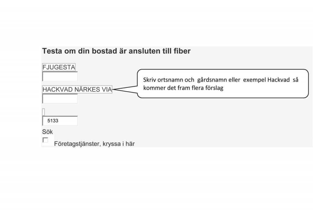 Skärmdump från bredbandswebben